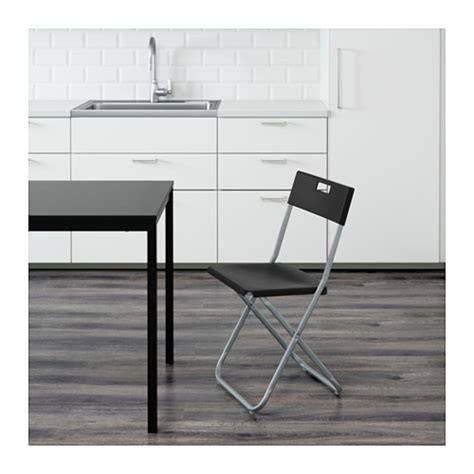 ikea gunde gunde folding chair black ikea