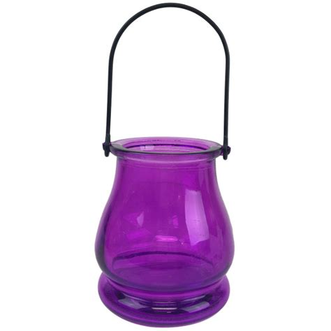 Glass Hanging Vase by Hanging Glass Candle Vase 3 75 Quot Magenta