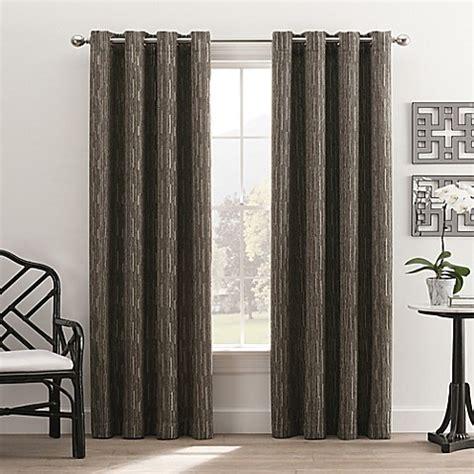 buy hyde park 84 inch grommet top window curtain panel in