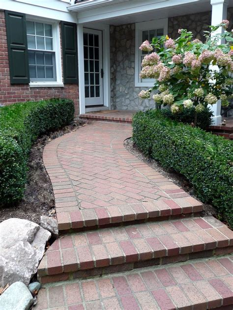 brick paver front porch and walkway porches and walks pinterest porches walkways and