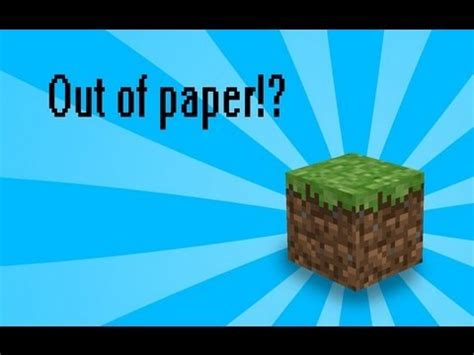 How To Make Minecraft Blocks Out Of Paper - how to make a paper minecraft block