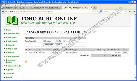 membuat web toko online dengan php contoh source code toko online bunafit komputer