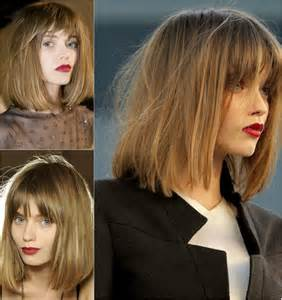 long bob with fringe hair trends fall winter 2014 hello welcome