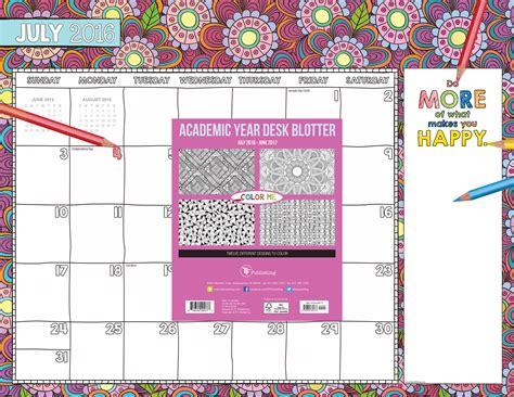desk blotter calendar 2017 2017 color me 12 month desk blotter calendar ebay
