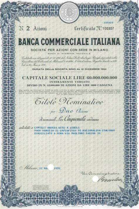 commerciale italiana storia delle banche italiane commerciale italiana