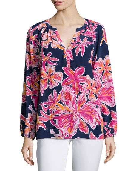 Blouse By Elsire lilly pulitzer elsie floral print blouse neiman