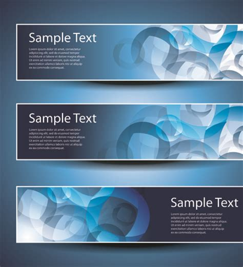 Banner Design Elements Abstract Vector 03 Free Download Banner Design Templates In Photoshop Free