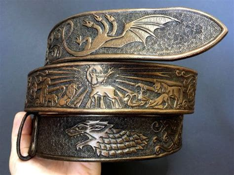 Gamis Belt tooled leather belt with bronze sheen exclusive