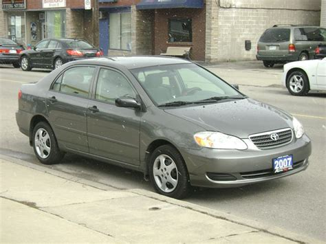 Gas Mileage 2007 Toyota Corolla 2007 Toyota Corolla Ce Hamilton Ontario Used Car For Sale