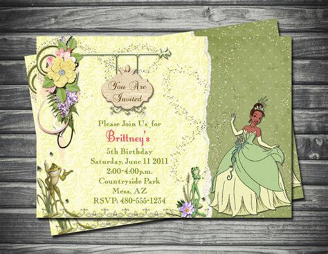princess and the frog invitations printable princess and the frog birthday invitation from sassygraphicsdesig