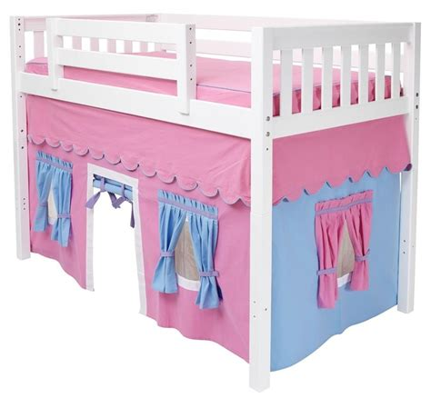 loft bed playhouse curtains mid loft bed curtain w playhouse windows doors