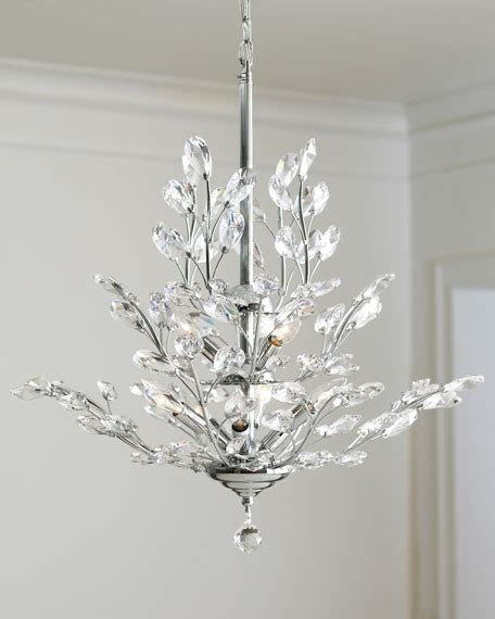 Leaf Chandelier 9 Light Silver Leaf Chandelier