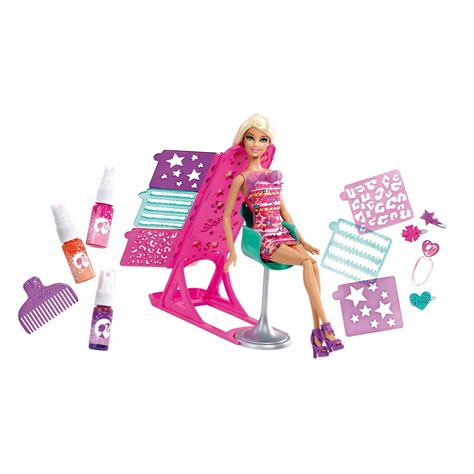 design a doll smyths barbie hair tastic color design salon doll toy set