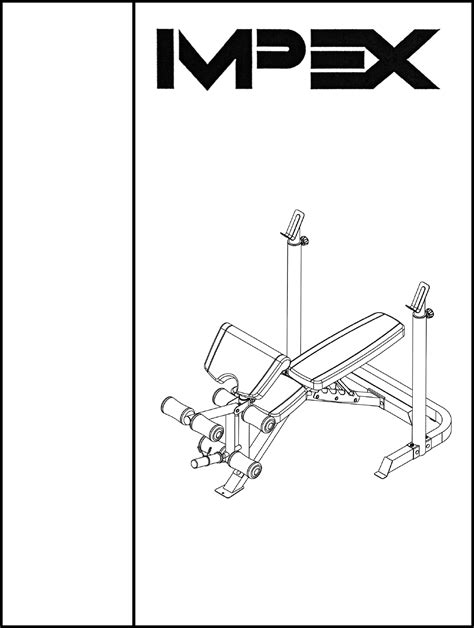 marcy weight bench assembly instructions impex home gym md 859 user guide manualsonline com