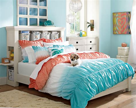 girls turquoise bedroom ideas teenage girl bedroom ideas turquoise orange pbteen