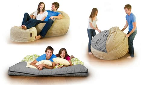 cordaroy s bean bag bed cordaroy s chenille beanbag chair bed full sleeper groupon