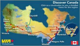 route map canada trans canada by rail canada via rail 2017 2018 cars
