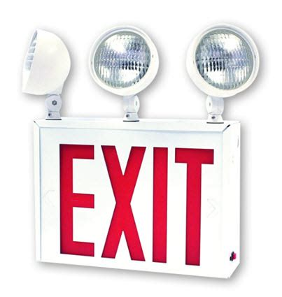 Lu Emergency Exit Led led nyc approved combo emergency exit sign
