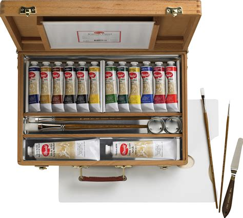 acrylic paint kit with easel save on discount utrecht artists deluxe wood box easel