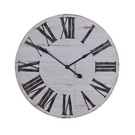 white wooden distressed wall clock distressed white wooden wall clock