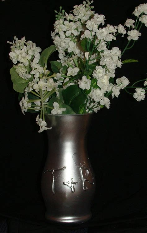 spray paint vase silver spray painted vase weddings vase