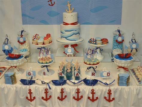 Nautical Table Decor by Events By Nat Swirl Nautical Themed Dessert Table