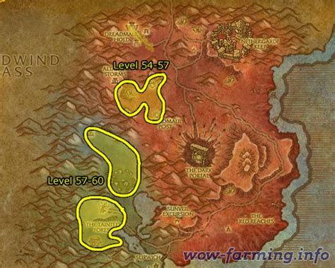 grinding  blasted lands   wow farming