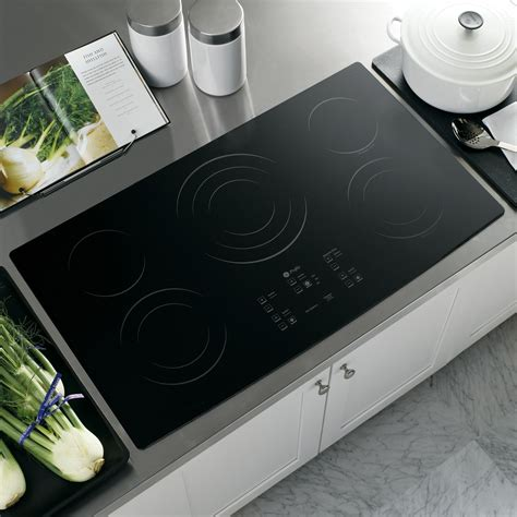 Ge Profile 36 Electric Cooktop ge profile pp975bmbb 36 quot built in electric cooktop black sears outlet