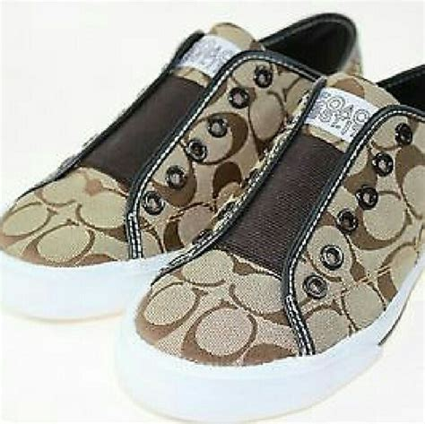 Coach Shoes Import 5 46 coach shoes coach signature slip on sneakers 7 5 from s closet on poshmark