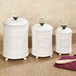 What To Put In Kitchen Canisters by Circa White Ceramic Kitchen Canister Set
