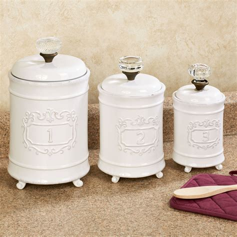 Stainless Steel Kitchen Canister Set Circa White Ceramic Kitchen Canister Set