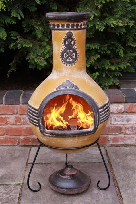 Patio Chiminea Mexican Clay Chimenea Mayan Aztec Chiminea Patio Heater
