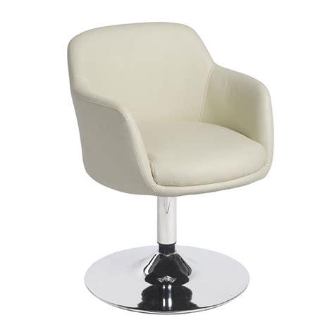 silla de comedor maringa base metalica giratoria comodos reposabrazos en piel color blanco