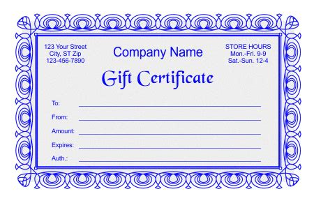 Free Gift Certificate Templates In Word Indesign And Corel Draw Formats Things I Like Indesign Certificate Template