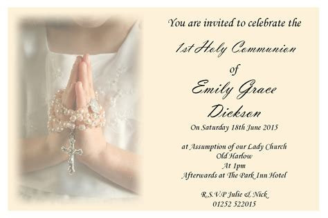 First Holy Communion Invitations Free Templates   Saflly   Free Printable Postcard and eCards