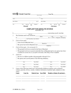 Maryland Divorce Forms Maryland Separation Agreement Template