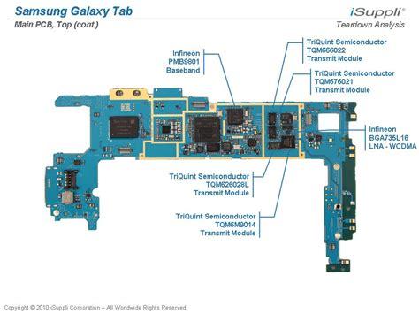 samsung galaxy tab carries  bill  materials isuppli