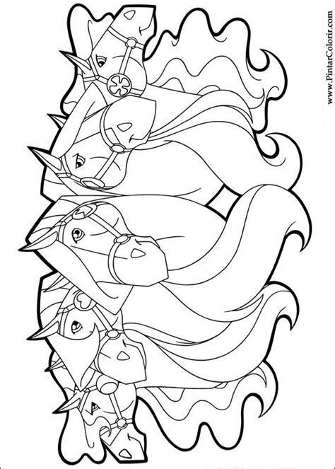 Desenhos Para Pintar e Colorir Horseland - Imprimir