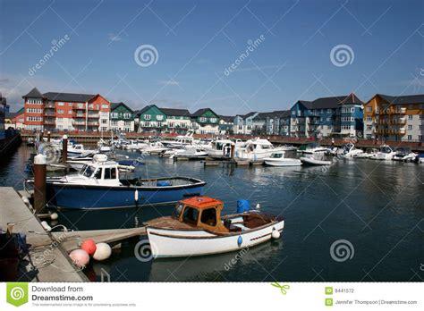 boat mooring exmouth exmouth marina stock photo image of church coast devon