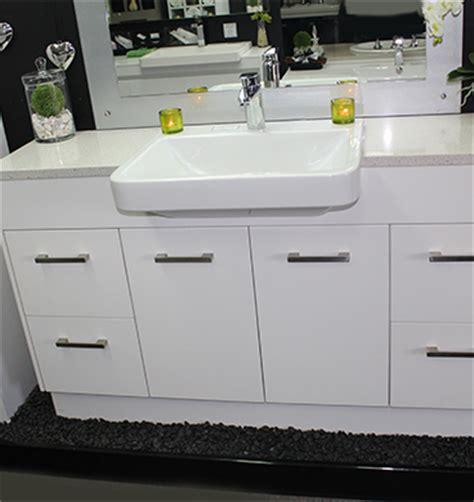 custom vanity unit 1500mm top semi recessed basin