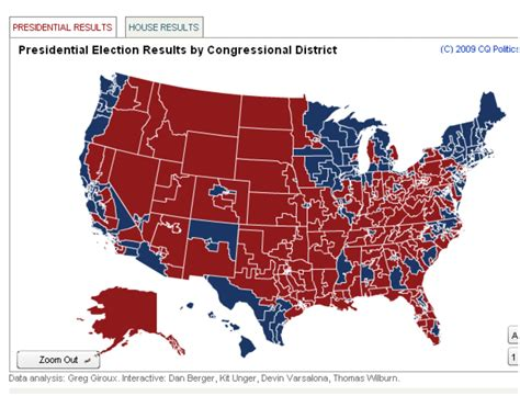 map us congressional districts 2008 election