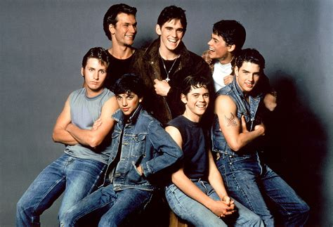 rob lowe patrick swayze made tom cruise look lobotomized s e hinton looks back on the outsiders for 50th anniversary