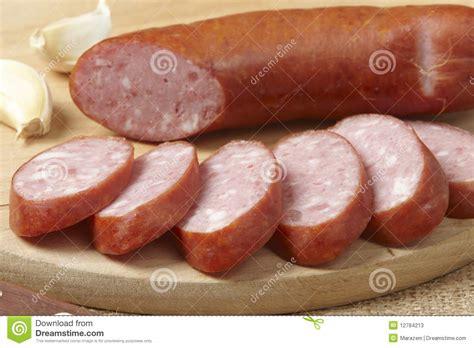 Sosis Beef Cooked Salami Sliced sliced sausage stock photos image 12784213