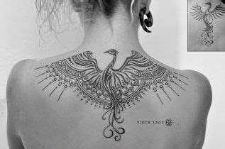geometric tattoo phoenix piotr szot geometric dotwork phoenix assorted tattoos