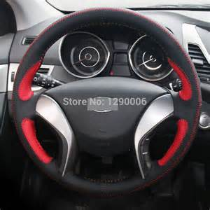 Hyundai Elantra Steering Wheel Cover Aliexpress Buy Black Leather Car Steering Wheel