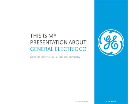 General Electric Powerpoint Template Presentationgo Com Use Powerpoint Template
