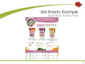 Product Sell Sheet Template by Marketing B C Agri Food And Seafood Products