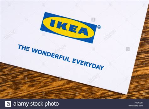 ikea company london uk january 13th 2017 a close up of the ikea company logo stock photo royalty free