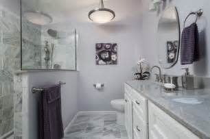 Grey And Purple Bathroom Ideas Purple And Gray Bathroom Contemporary Bathroom St Louis By Swat Design Team For