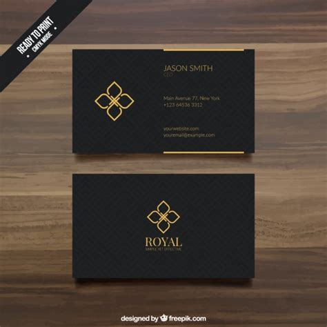 Black And Gold Business Card Templates Free by Black Business Card Template Vector Premium